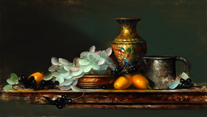 Chinese Vase with Cumquats